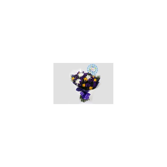 additional image for Its a Boy Balloon & Purple Moon Bouquet