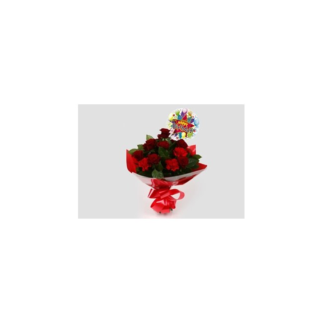 additional image for Birthday Balloon & Heart Special Bouquet