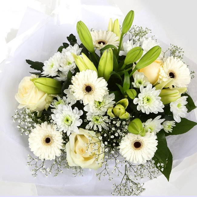 additional image for Birthday Balloon & White Petite Bouquet