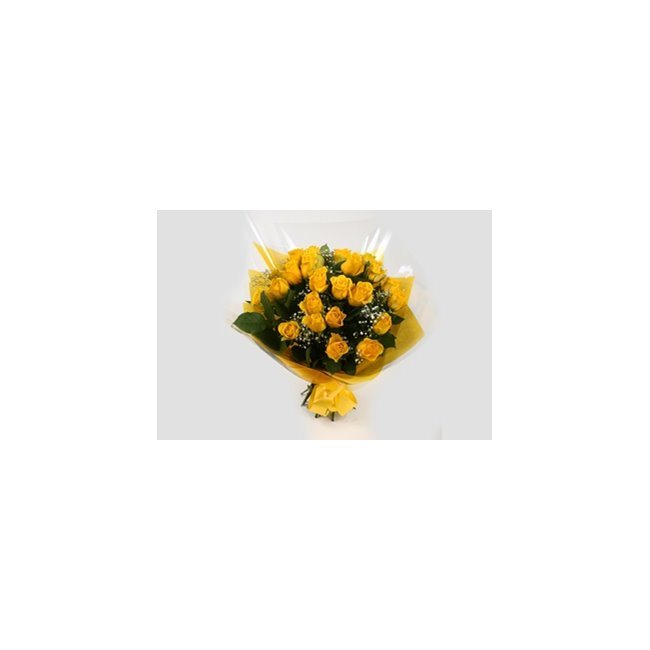 additional image for 24 Yellow Roses With Gypsophila