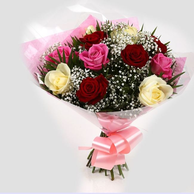 Sweet Melody Roses With Gypsophila -Clear Savings-Clear Prices