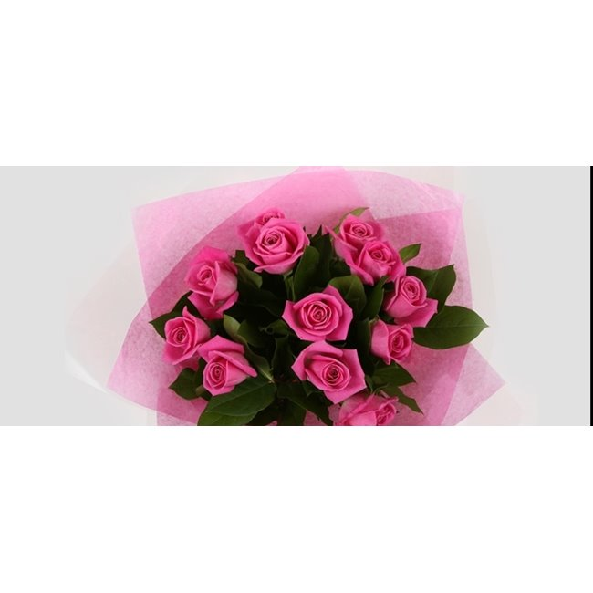 additional image for 12 Pink Roses Bouquet-Clear Savings-Clear Prices