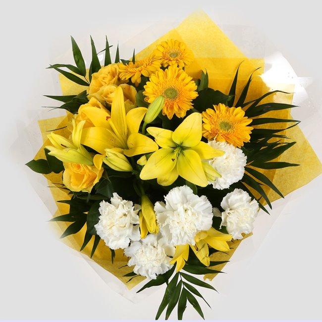 additional image for Birthday Balloon & Golden Sunshine Bouquet