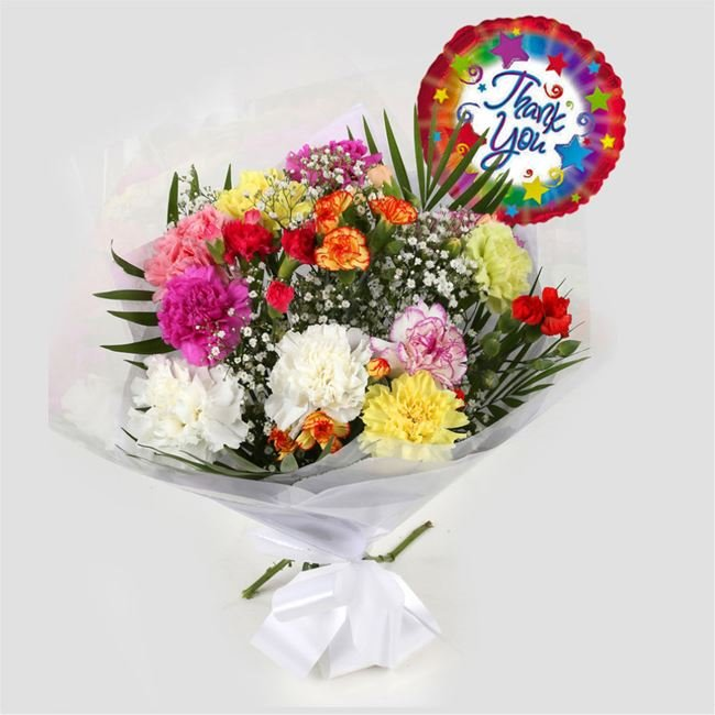 additional image for Thank You Balloon & Lollipop Star Bouquet