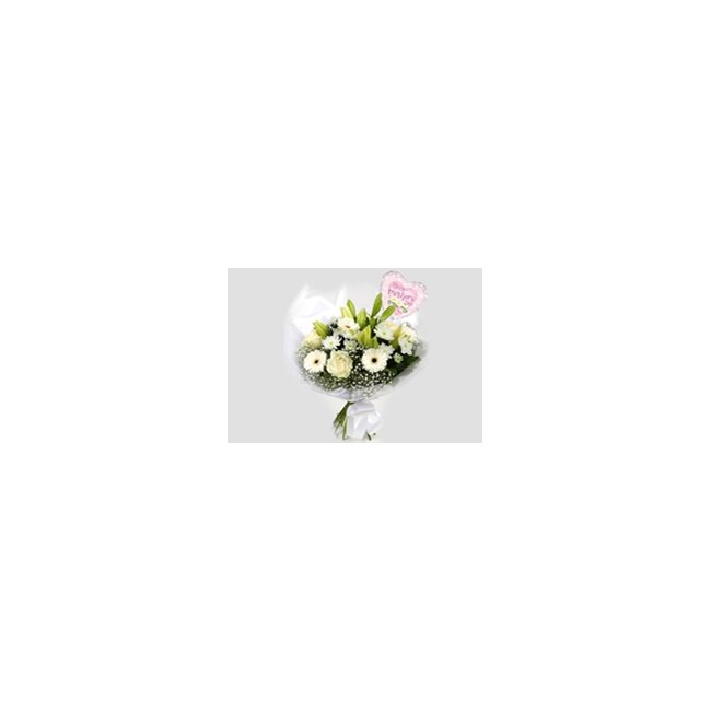 additional image for Mothers Day Balloon & White Petite Bouquet