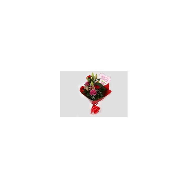 additional image for Mothers Day Balloon & Pink Oriental Bouquet