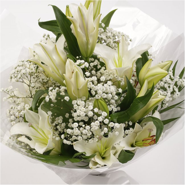 additional image for White Lilies Bouquet