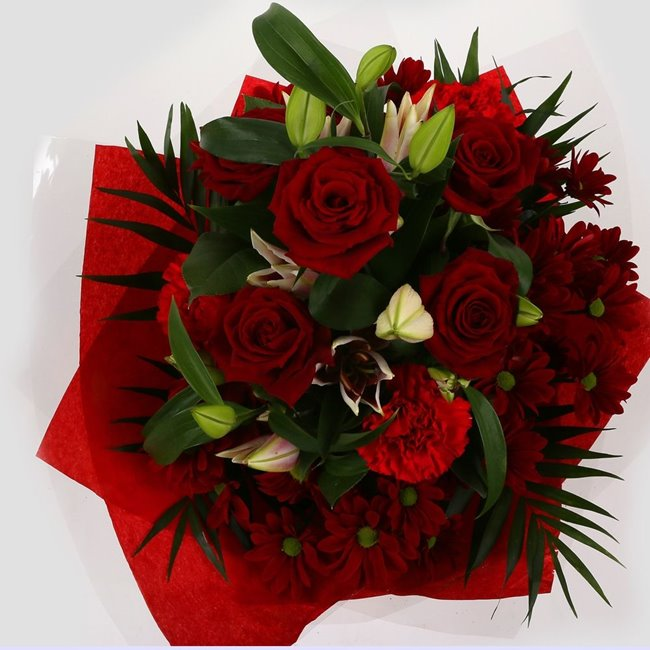additional image for Mothers Day Balloon & Red Rose & Lilly Bouquet