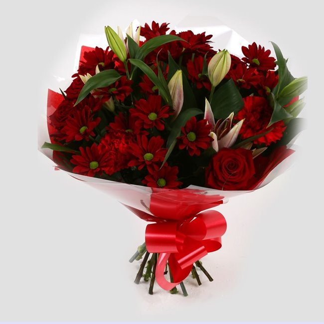 additional image for Red Rapture Bouquet
