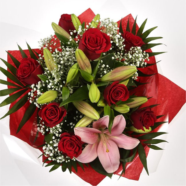 additional image for Special Rose and Lily Bouquet