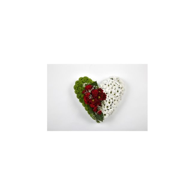 additional image for CLASSIC HEART-RED-WHITE & GREEN