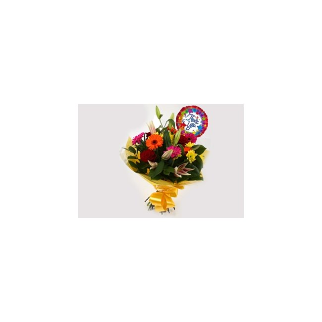additional image for Thank You Balloon & Jubilation Bouquet