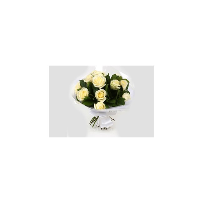additional image for 12 White Roses Bouquet-Clear Savings-Clear Prices