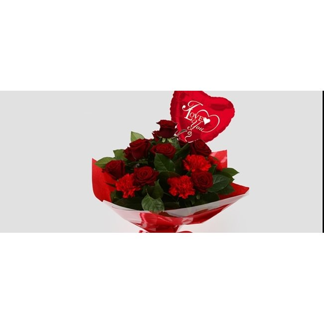 additional image for Love You Balloon & Heart Special bouquet