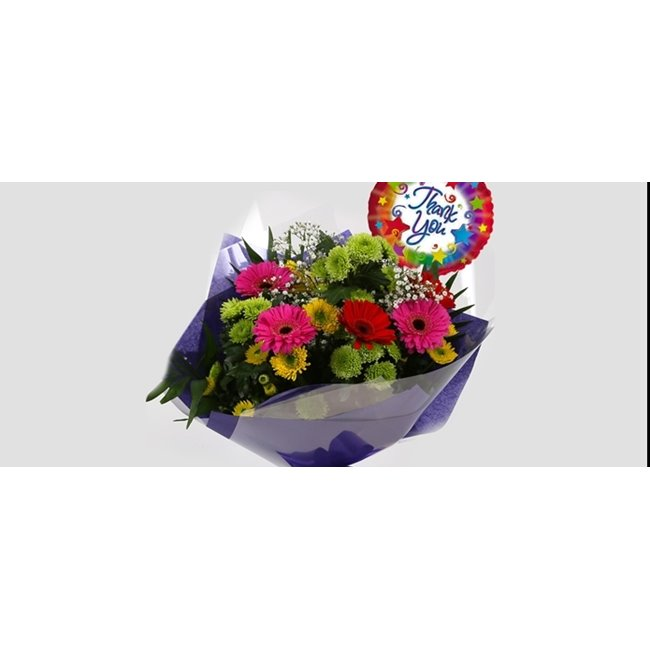 additional image for Thank You Balloon & Elegance Bouquet