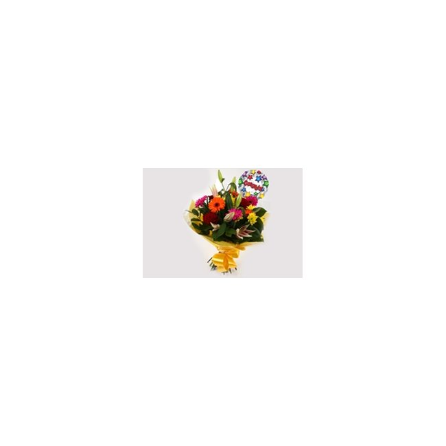 additional image for Congrats Balloon & Jubilation Bouquet