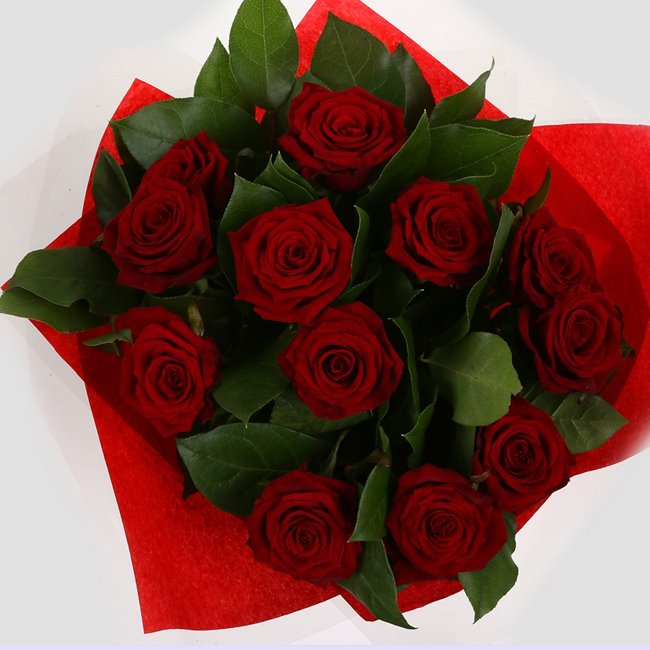 additional image for 12 Red Roses Bouquet