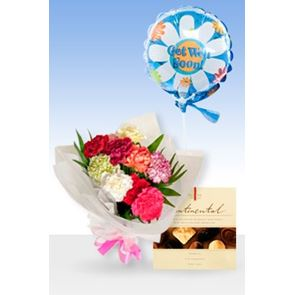 Classic Luxury Get Well Balloon & Chocs