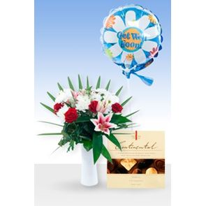 Luxury Princess  Get Well Balloon & Chocs