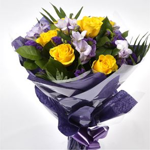 Pretty Scented Roses and Freesias Bouquet