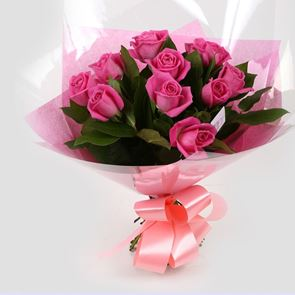 12 Pink Roses Bouquet-Clear Savings-Clear Prices